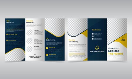 Travel trifold brochure design template