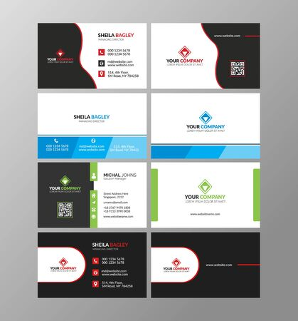 business card or visiting card design in front and back