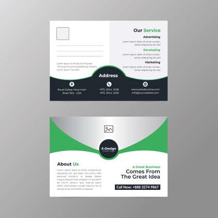 Corporate business postcard design template