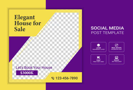 Real estate digital marketing corporate social media cover banner template promotion