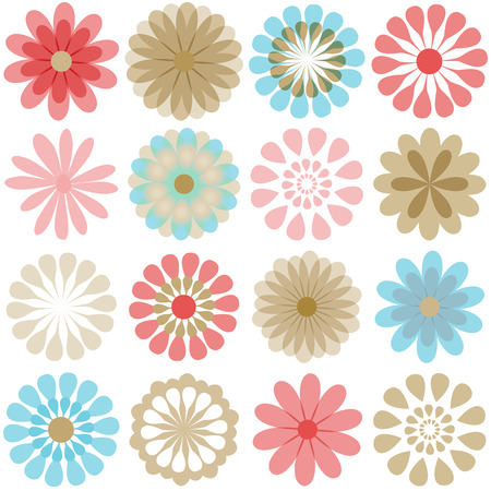 Multiple flowers 3 Vector