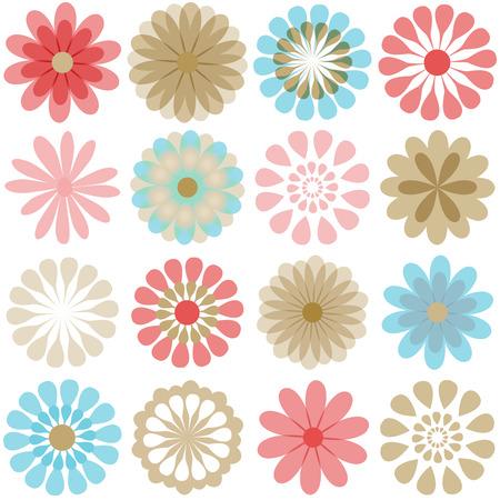 Multiple flowers 3 Vector