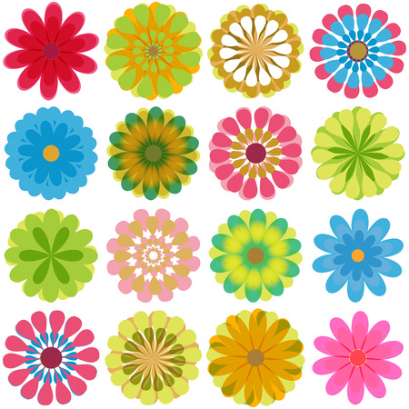 symbol vector: Multiple flowers 2