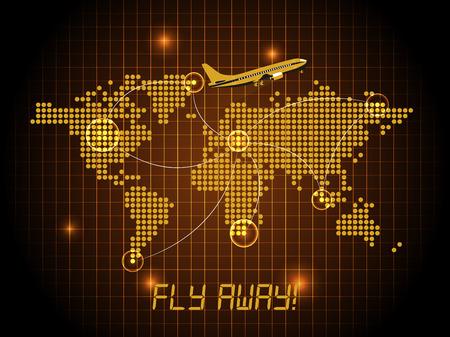 boeing: Fly away map  orange design