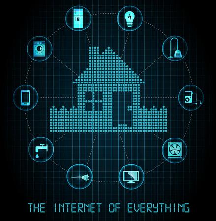 모든 것의 인터넷 배너 블루 에디션