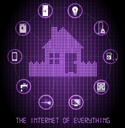 The internet of everything banner  purple edition