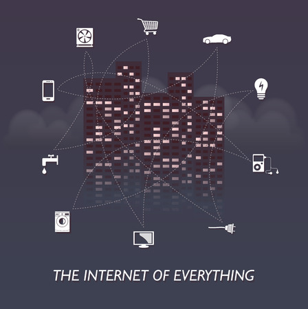The Internet of everything  towers edition 2 Vector