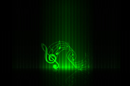 Music on stage  green edition Vector