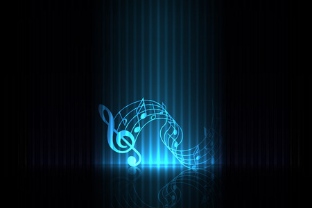 Music on stage  blue edition Vector