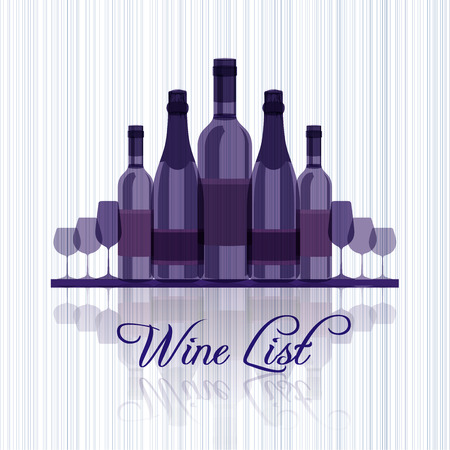 pinot grigio: Wine list for menu  blue edition