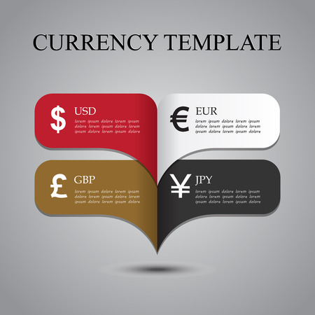 Currency analysis template 向量圖像