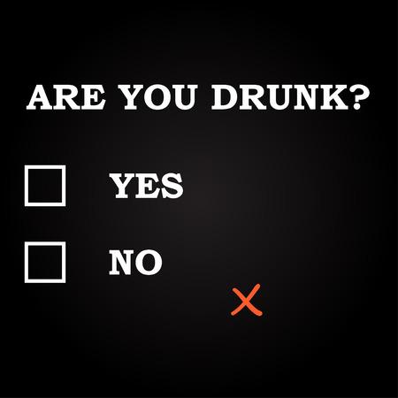 술 취한 유머 질문 템플릿 이니? 일러스트