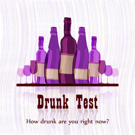 drunk party: Drunk test  humorous card template Illustration