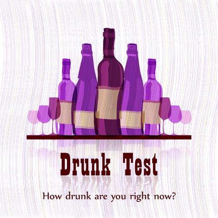 humorous: Drunk test  humorous card template Illustration