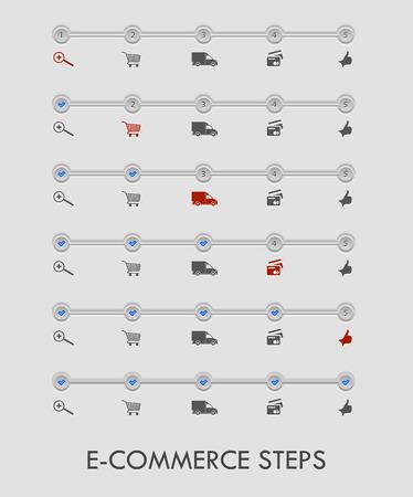 TApes de commerce électronique pour les achats en ligne Banque d'images - 39838738