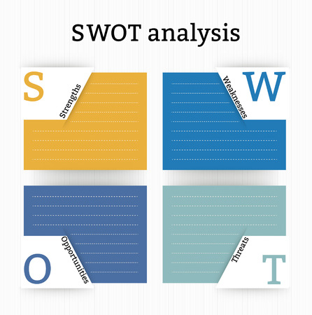 swot: Project management  SWOT Analysis table Illustration