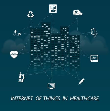 건강 관리에 관한 것들의 인터넷 일러스트