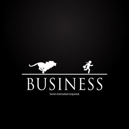 Motivation template in business  lion design Vector