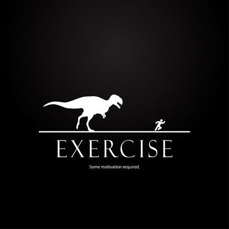 Motivation template  dinosaurs design Vector