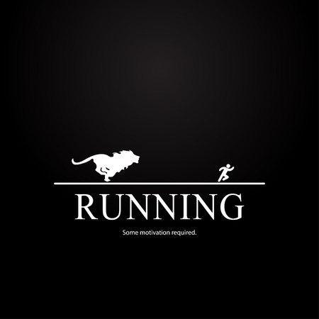 Motivation template for athlete  lion design Vector
