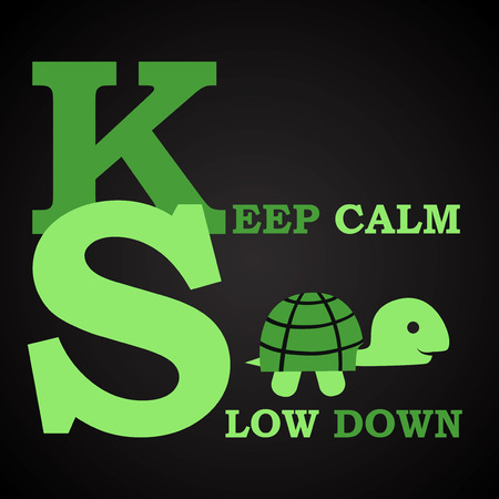 Keep calm with turtle - funny inscription template Иллюстрация