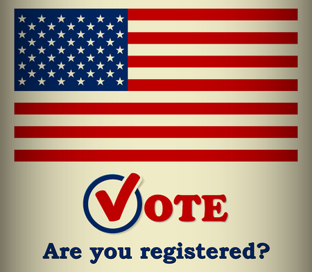 presidential: 2016 US Presidential election - Are you registered - template