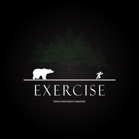 동기 부여 템플릿 - 디자인 곰의 공격