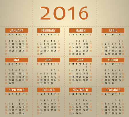 event planner: 2016 calendar template for business and private use