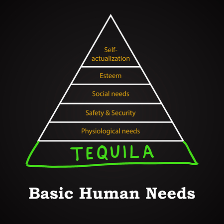 Basic Human Needs - Tequila - Funny Inscription Template Royalty ...