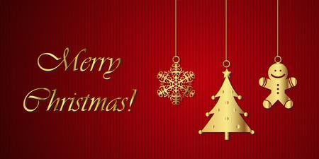christmas greeting card: Merry Christmas! - Greeting card Illustration