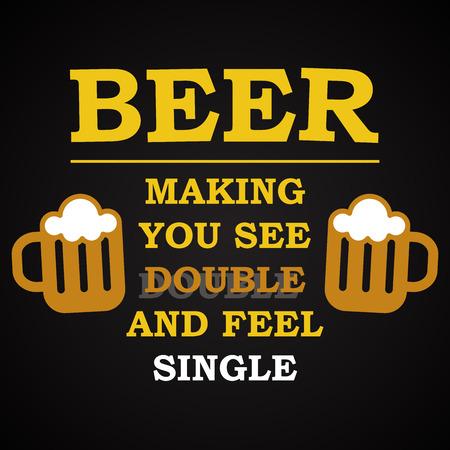 vision de bière - modèle d'inscription drôle Vecteurs