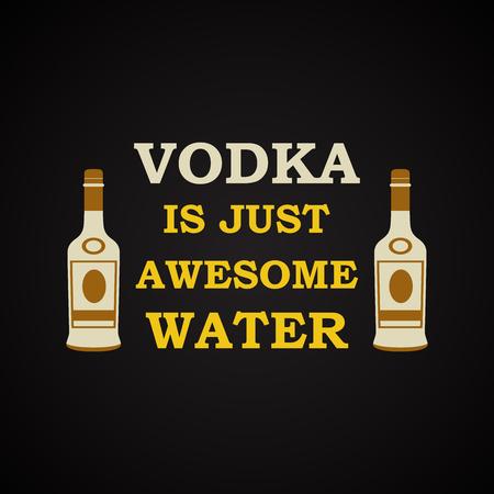 Vodka - funny inscription template