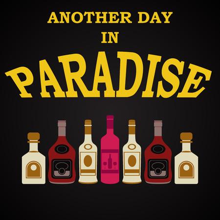 drunkard: Paradise - funny inscription template