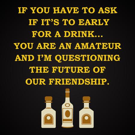 drunkard: Amateur - funny inscription template