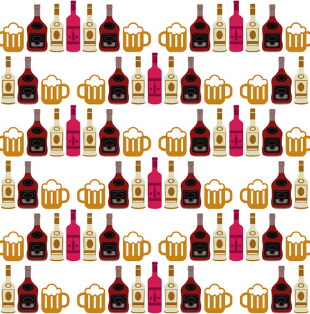 brandy: Alcohol abstract background pattern Illustration