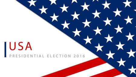 Präsidentschaftswahlen in den USA 2016 Plakatschablone