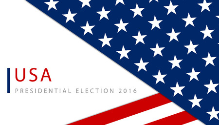 politics: Presidential election in the USA 2016 poster template
