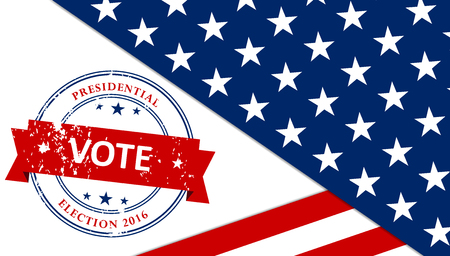 presidential: Presidential election in the USA 2016 poster template