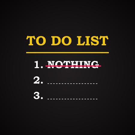 to do list: To do list - funny inscription template