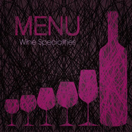 Weinkarte mit Weinspezialitäten
