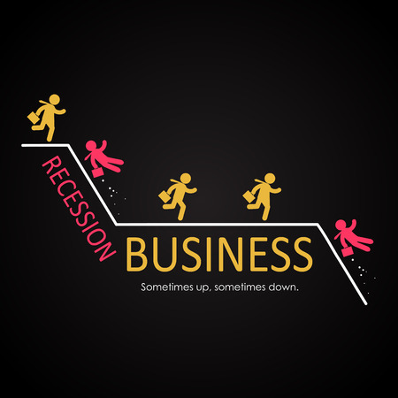 recession: Business Recession illustration template