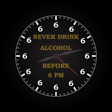 drunkard: Never drink alcohol - funny inscription template