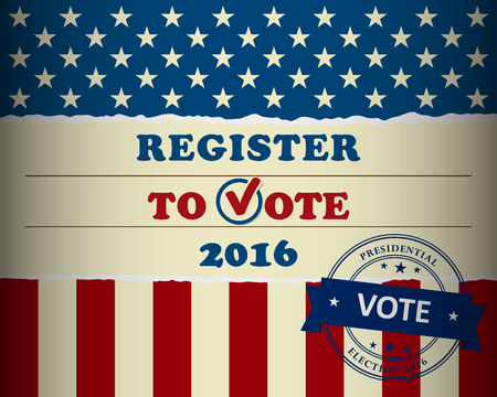 Presidential Election 2016 - Vote your president in the USA - banner template Illustration