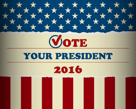president of the usa: Presidential Election 2016 - Vote your president in the USA - banner template Illustration