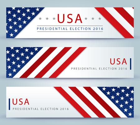 Elezioni presidenziali negli Stati Uniti nel 2016 - modello della bandiera Vettoriali