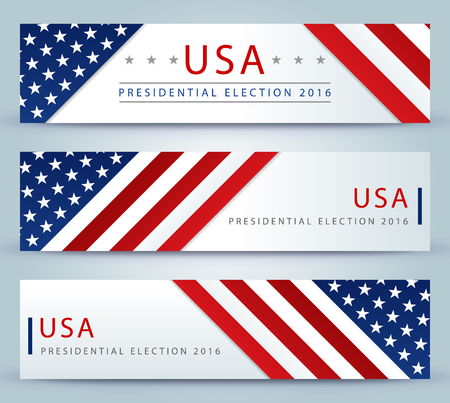 vote: Presidential election in the USA in 2016 - banner template