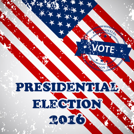 nomination: Presidential election in the USA in 2016 - banner template