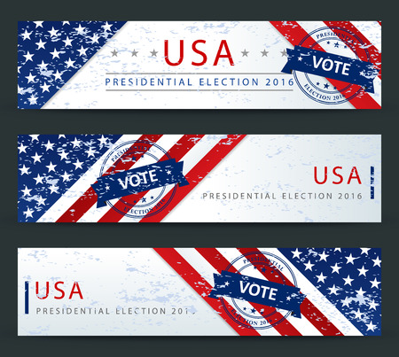 presidential election: Presidential election in the USA in 2016 - banner template