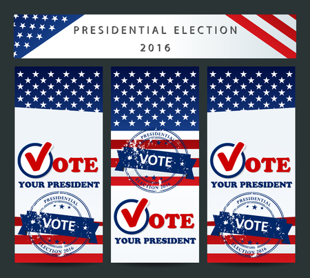 presidential: Presidential election in the USA in 2016 - banner template