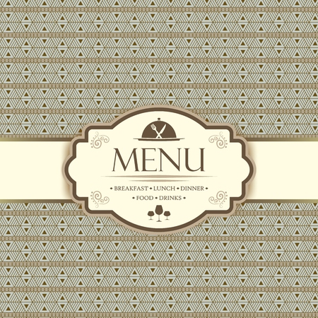 menu restaurant: Menu template for restaurants, bars and beverages - breakfast, lunch, dinner, food and drinks